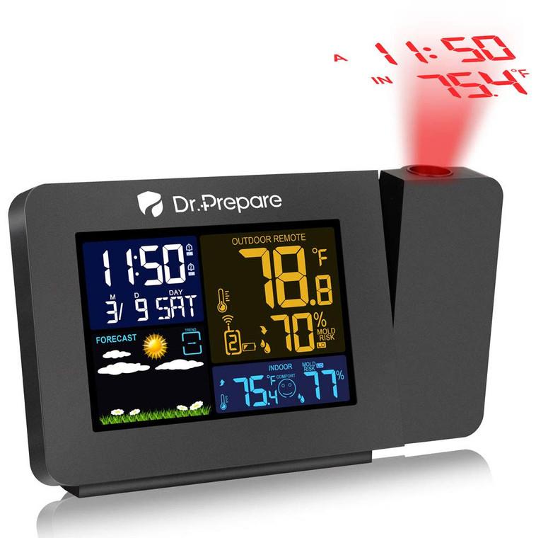 Multi-Colored Projection Alarm Clock