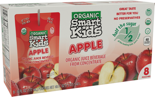 Smart Kids Apple Juice Pouch Box