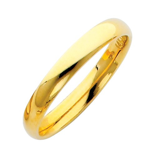 14k Solid Yellow Gold Wedding Band