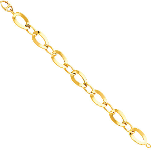 14K (HOLLOW) Light Bracelet - 7.5""