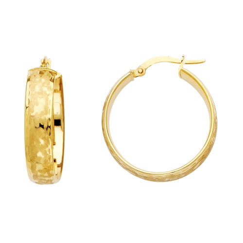 14K (HOLLOW) 6mm Hoop Earrings