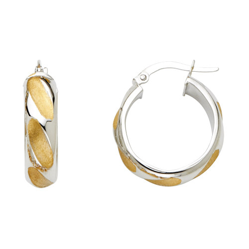 14K 2T 6mm Hollow Hoop Earrings