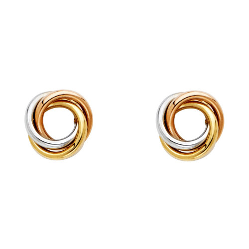 14K 3C Love Knot Earrings