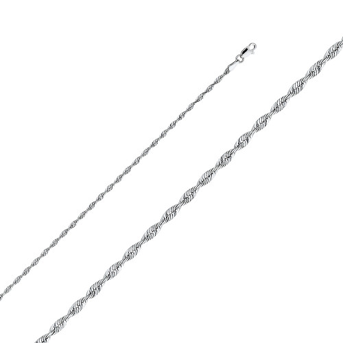 """14K (SOLID) 2.5 mm Rope Chain - 18"""""""