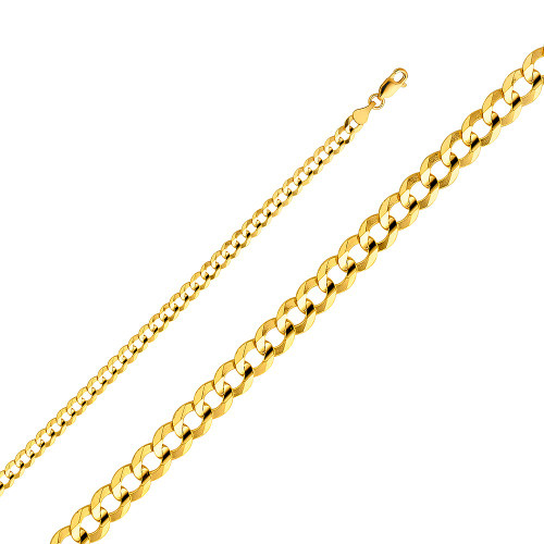 14K (SOLID) 4.7 mm Cuban Link Chain