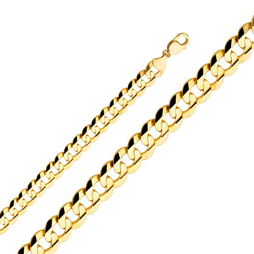 14K (SOLID) 12.2mm concave cuban link chain Chain