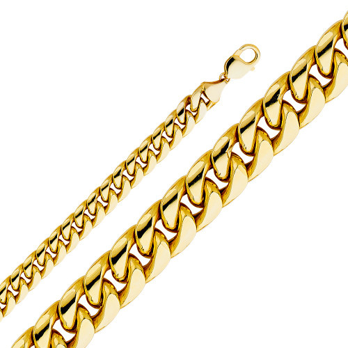 14K (HOLLOW) 11mm Miami Cuban Link Chain