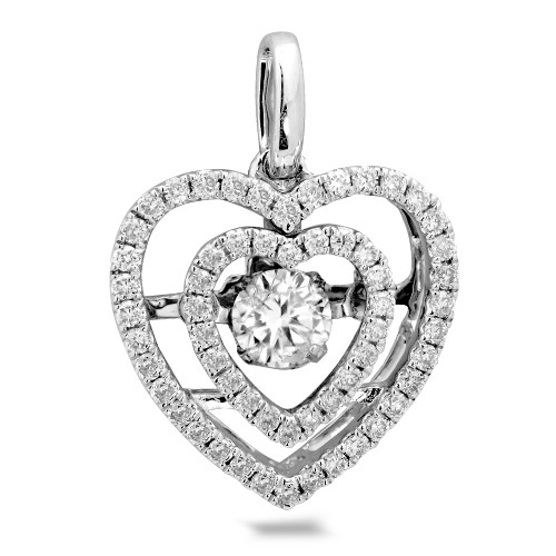 Dancing Diamond Heart (pendant)