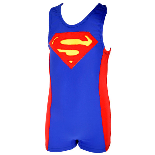 Boy's Superman Unitard Front