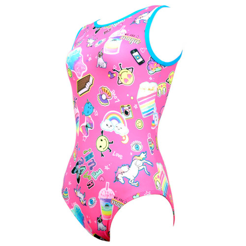 Galaxy #1V Gymnastics Leotard Front Left