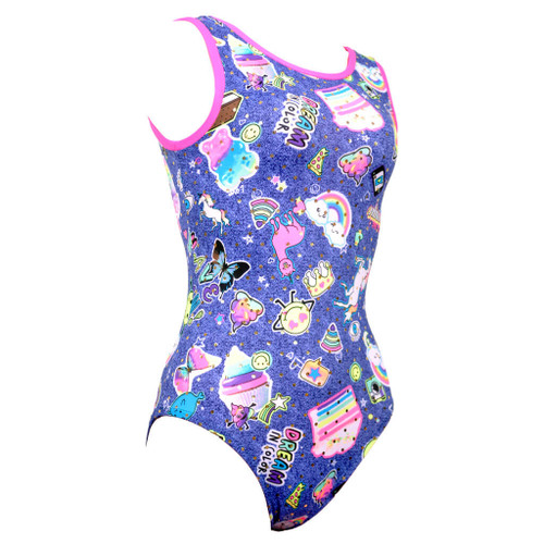 Galaxy #1Z Gymnastics Leotard Front Right