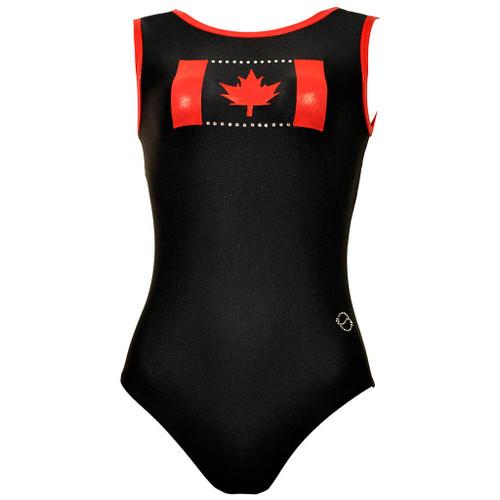 Oh Canada #1 Gymnastics Leotard Front