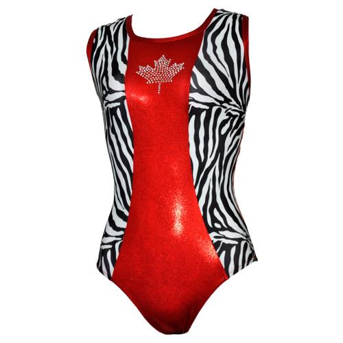 Oh Canada #3 Gymnastics Leotard Front