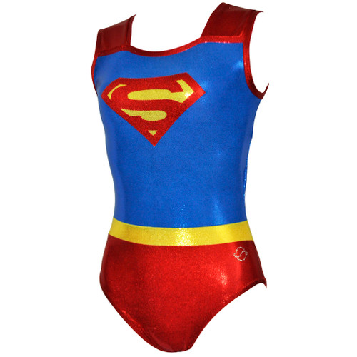 Super Girl Gymnastics Leotard Front