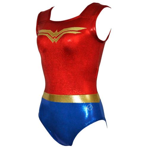 Wonder Woman Gymnastics Leotard Front