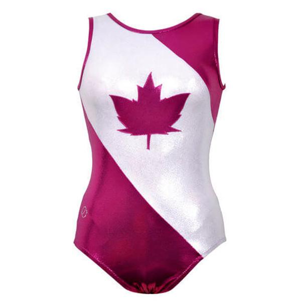 Oh Canada #10 Gymnastics Leotard Front