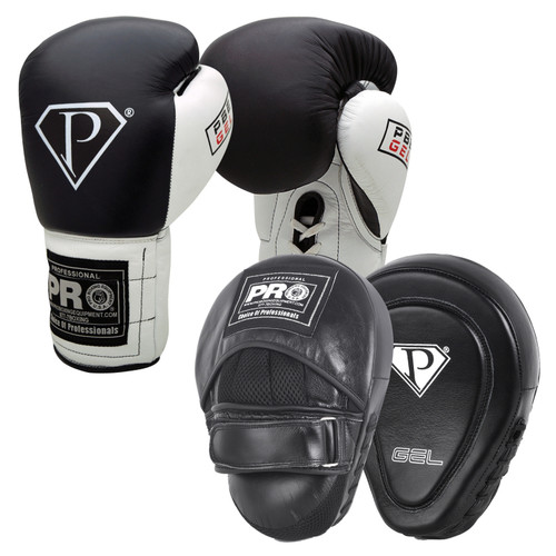 PRO GEL BOXING GLOVES & CONTOURED PUNCH MITTS