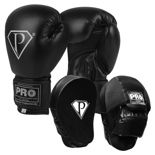 PRO BOXING GLOVES & CONTOURED PUNCH MITTS