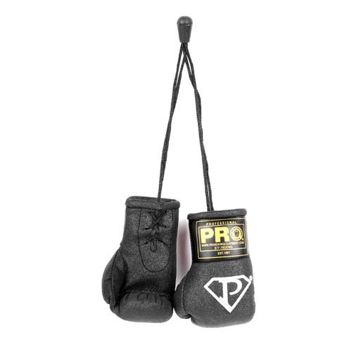 PRO Mini Boxing Gloves Black Glitter