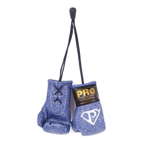 Pro Mini Boxing Gloves Navy Blue Glitter