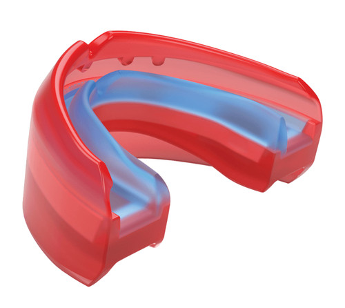 Ultra protection for athletes with braces. The Ultra Braces mouthguard outperforms conventional mouthguards through the genius combination of adjustability and durability in one package. The Insta-Fit Plus™ system allows athletes to mold and remold the mouthguard as teeth continue to adjust throughout orthodontic treatment.  BRACES FIT: Specifically developed for use with orthodontics  Triple layer protection for braces wearers Moldable and remoldable after bracket adjustment HSA/FSA ELIGIBLE $50K Dental Warranty Mouthguard Warranty and Fit Instructions - Download