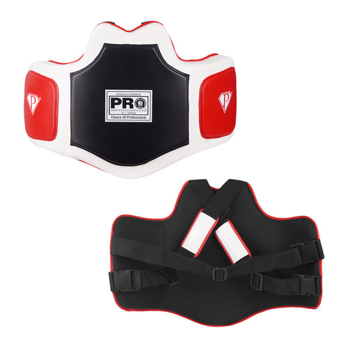 """New and exclusive design makes for the most comfortable, protective, anatomically correct and top-of-the-line training protector Almost 3"""" of multilayer special cell padding protects the trainer like a bullet proof vest More than 1/2"""" outside Target Zones offer the athlete the utopia in power, precision, speed and incredible life-like impact resistance Complete with moisture wicking inside liner, completely adjustable shoulder and back nylon straps, and exclusive adjustable shoulder pads Size: One Size Fits Most"""