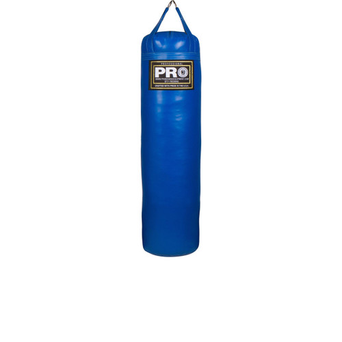 """4FT XL Boxing MMA Royal Blue Heavy Punching Bags  High-Grade Chrome D-Ring Hardware (Maximizes Life) Triple Stitched Straps and Seams High grade skins for Easy Cleaning and Durability Weight: Approximately 100 lbs 16"""" Diameter Filled and ready for use Weatherproof Made in USA"""
