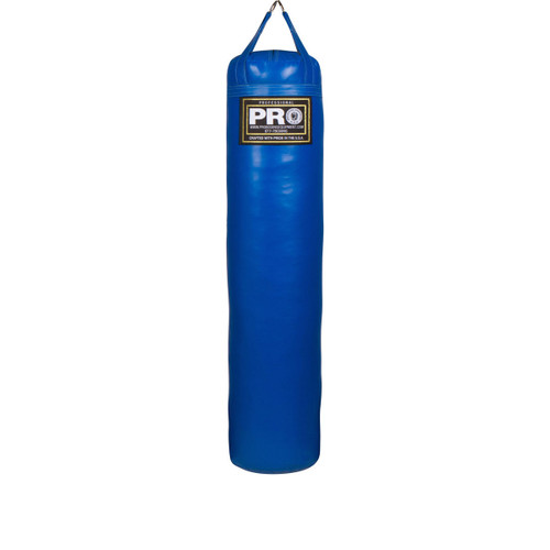 """5FT XL Boxing MMA Royal Blue Heavy Punching Bags  High-Grade Chrome D-Ring Hardware (Maximizes Life) Triple Stitched Straps and Seams High grade skins for Easy Cleaning and Durability Weight: Approximately 100 lbs 14"""" Diameter Filled and ready for use Weatherproof Made in USA"""