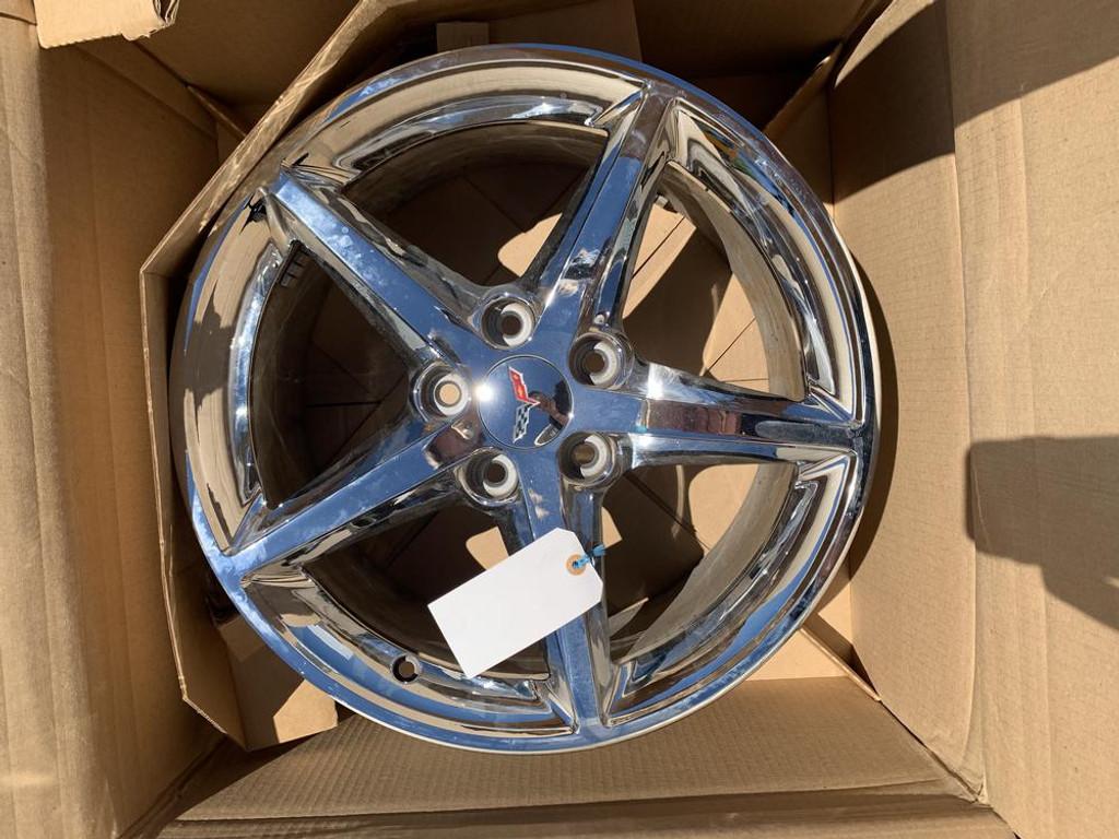 2011 - 2013 C6 Corvette Wheel, Front Chrome QX3 OEM 9598119