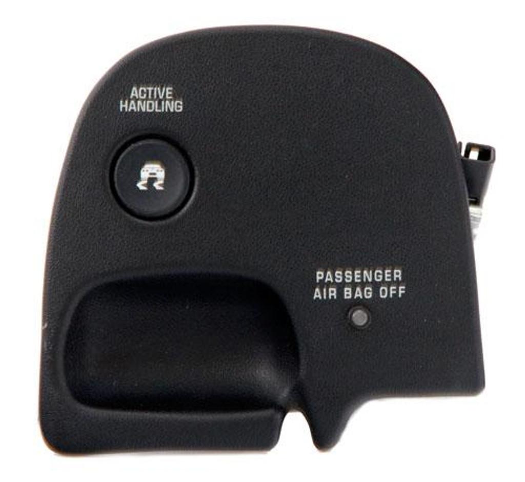 2000 - 2004 C5 Corvette Active Handling (Brake Control) Switch Panel w/ Passenger Airbag Light OEM 10440631