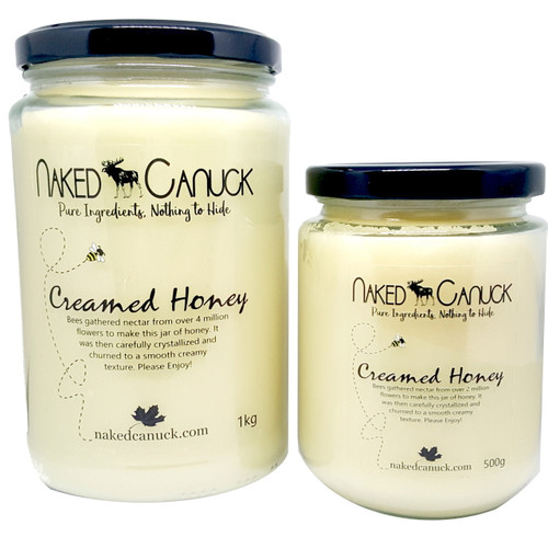 Naked Canuck Creamed Honey 1kg 500g