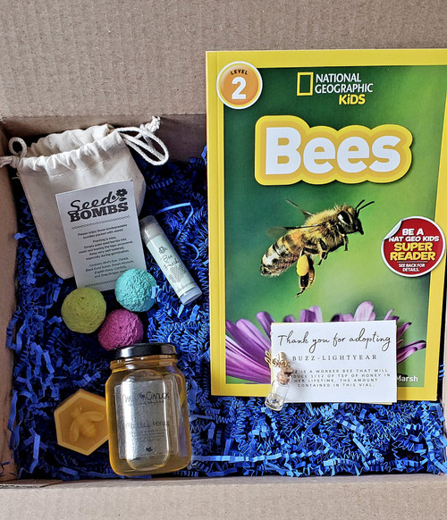 Adopt a Bee gift set for kids. From our apiary just outside of Edmonton, Alberta in Parkland County.