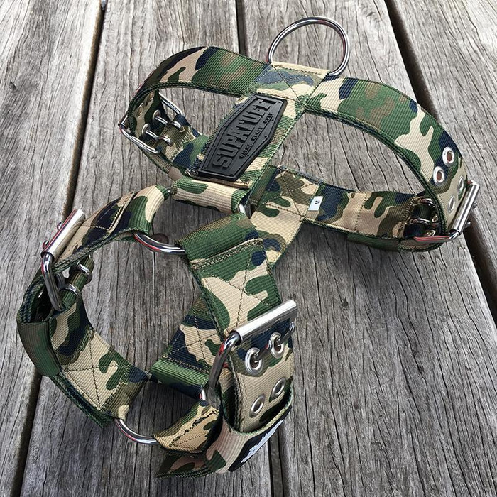 SUPATUFF® Heavy Duty Dog Harness - Militia Camo