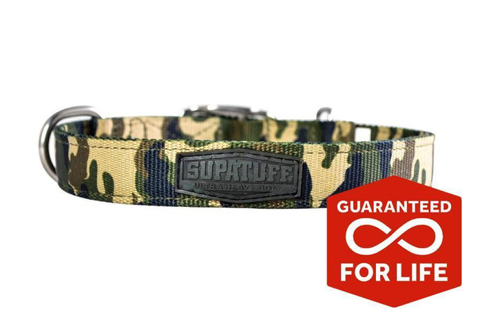 SUPATUFF® Slim Fit Dog Collar - Militia Camo
