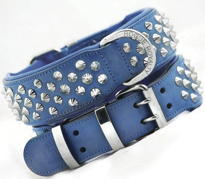 Imperial Blue  - Diamond Cut Cone  Studs