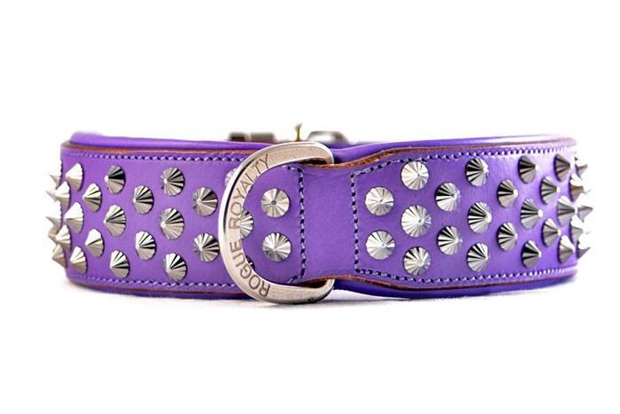 Imperial  Purple - Diamond Cut Cone Studs