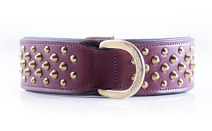 Ruff Neck Collar - Cherry & Brass