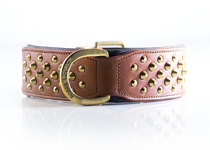 Ruff Neck Collar - Brown & Brass