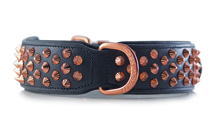 Ruthless Collar - Black & Rose Gold