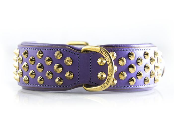 Ruthless Collar - Purple & Brass