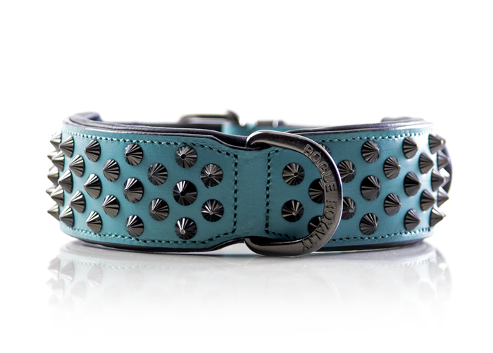 Ruthless Collar - Teal (Flat Studs)