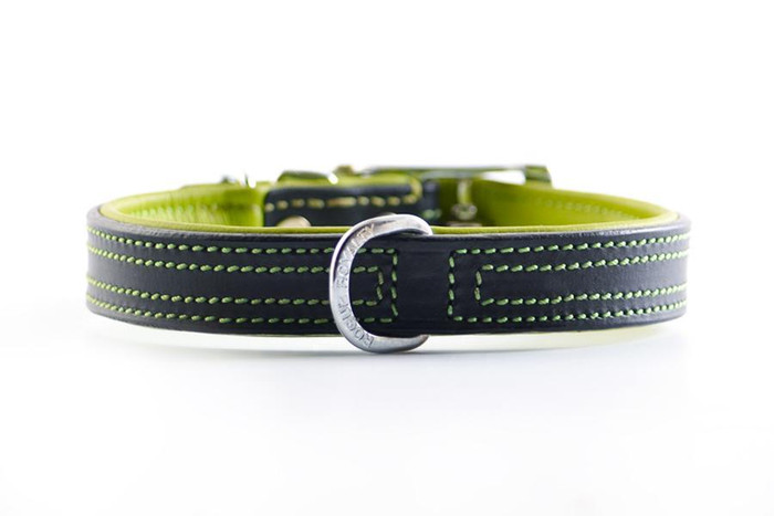 Tuscan Rogue Collar - Green/ Black Leather