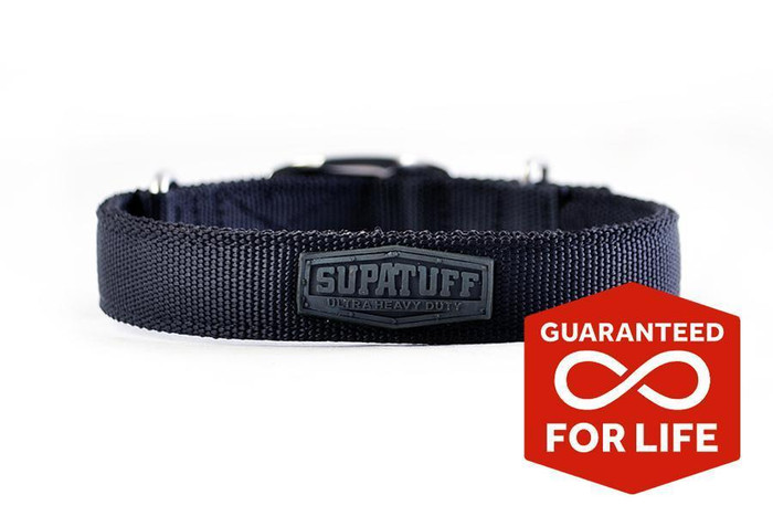 SUPATUFF® Slim Fit Dog Collar - Black