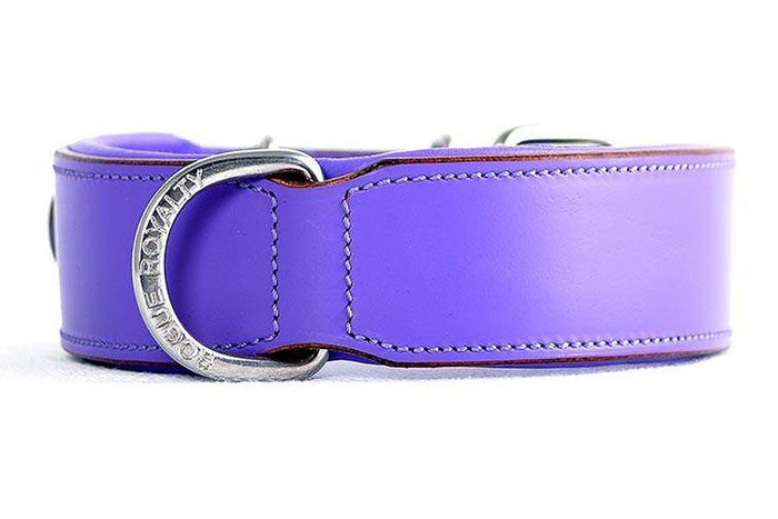 Classic Leather Collar Padded - Purple