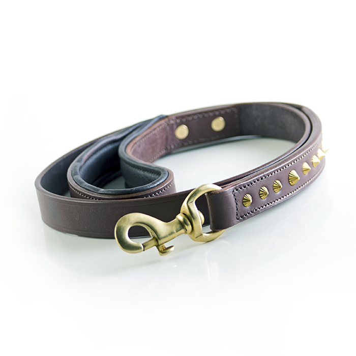 Ruthless Leash - Brown & Brass