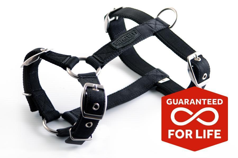 SUPATUFF®  Slim Fit Dog Harness  - Black