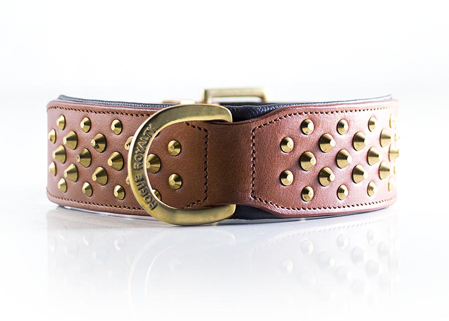 Ruff Neck Collar - Brown & Brass