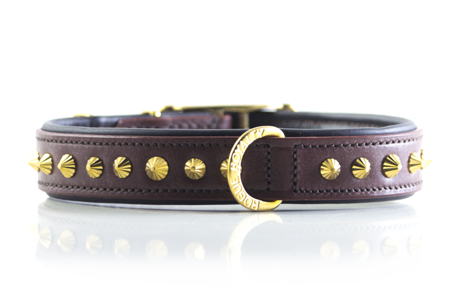 Ruthless Collar Slim Fit - Brown & Brass