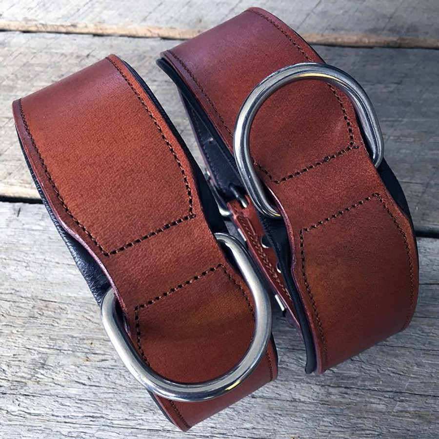 Classic Leather Collar Padded - Brown
