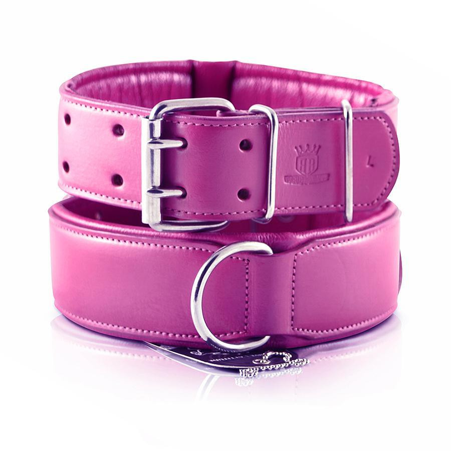Classic Leather Collar Padded - Pink